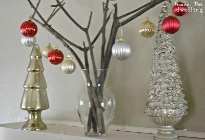 Simple Christmas decor made from real branches!