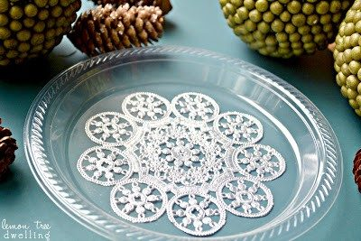 DIY Festive Holiday Plates