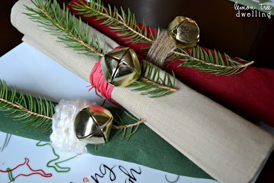 These adorable Jingle Bell Napkin Rings are the perfect addition to your holiday table!