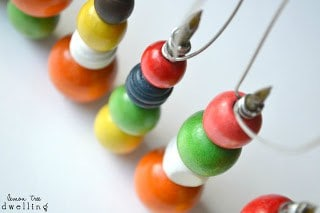 Wooden Bead Christmas Ornaments