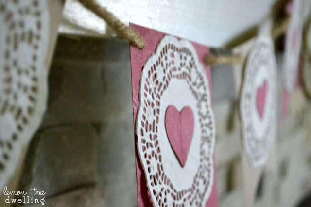 Homemade Valentine's Day Garland