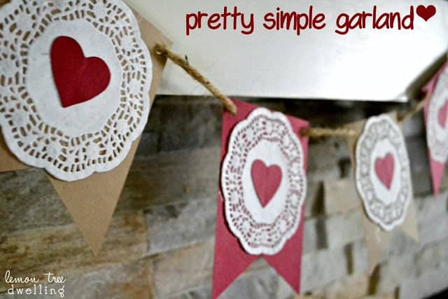 pretty and simple garland for Valentine's Day
