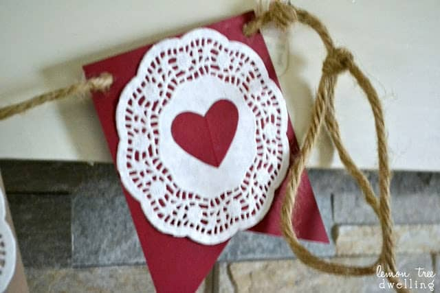 Simple Garland of Hearts Valentine's Day project