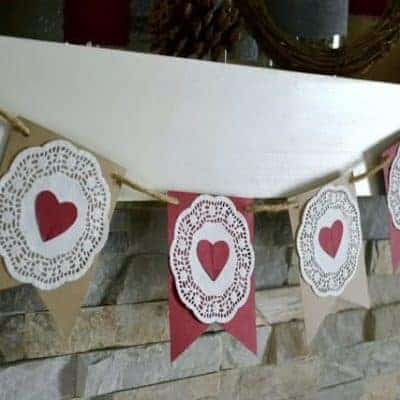 Simple Garland of Hearts {Valentine's Day Decor}