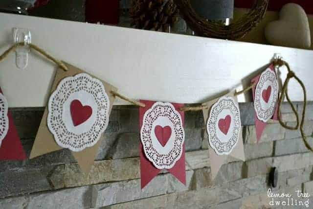Simple Garland of Hearts Valentine's Day Craft