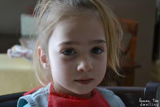 blonde haired little girl