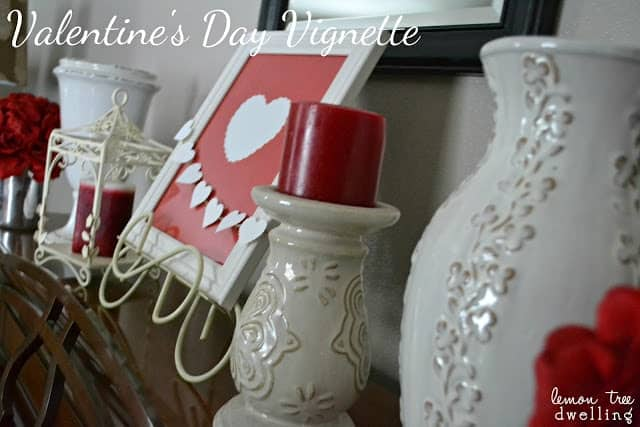 Valentine's Day Vignette - DIY Mantle Decor