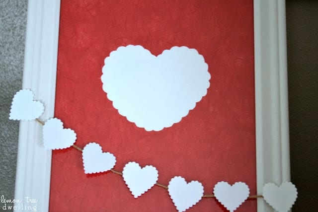 Homemade Valentine's Day Picture Frame
