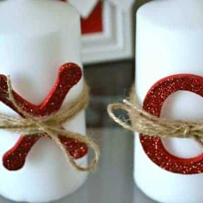XOXO Decorated Candles for Valentine's Day