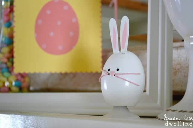 bunny rabbit mantel decor