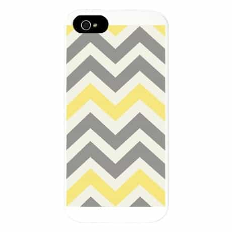 Gray and Yellow Chevron iPhone 5 Case