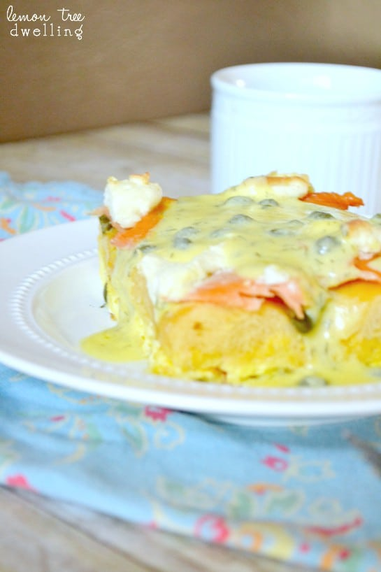 Bagels & Lox Breakfast Strata 6 - Copy
