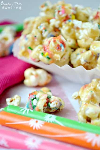 Carmel Corn Blondies Recipe — Dishmaps