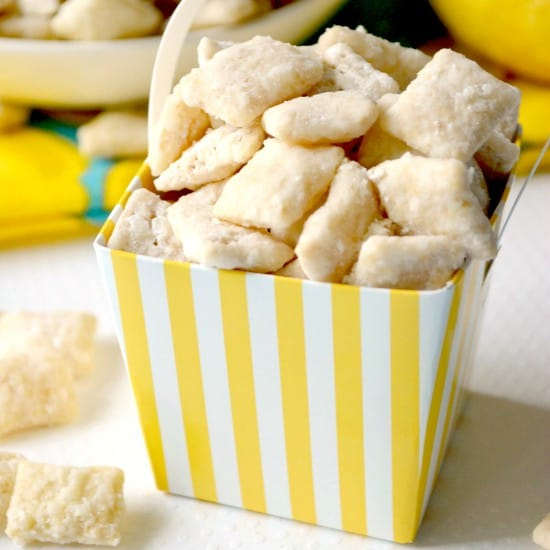 Lemon Bar Muddy Buddies square