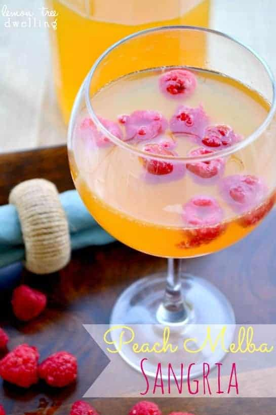 The classic combination of peaches and raspberries....brought together in a delicious sangria that is just right for breakfast, happy hour, or any hour! The perfect addition to your Mother's Day menu!