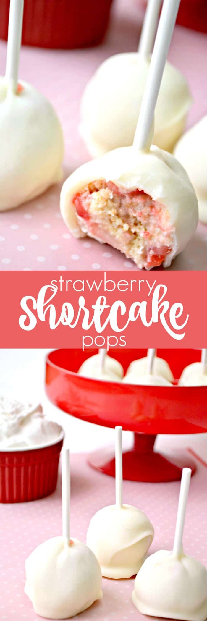 Strawberry Shortcake Pops! All the flavors of your favorite summer dessert in cake pop form!