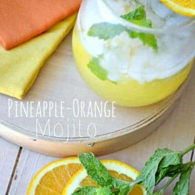 Pineapple-Orange Mojito