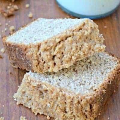 {Healthy} Banana Streusel Bread