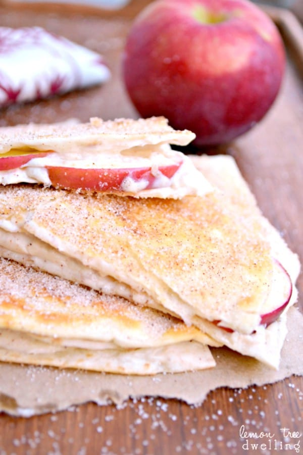 Apple Cheesecake Breakfast Quesadillas - {aka Dessert for Breakfast!}