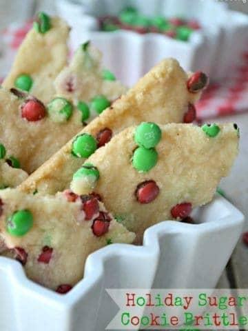 Holiday Sugar Cookie Brittle