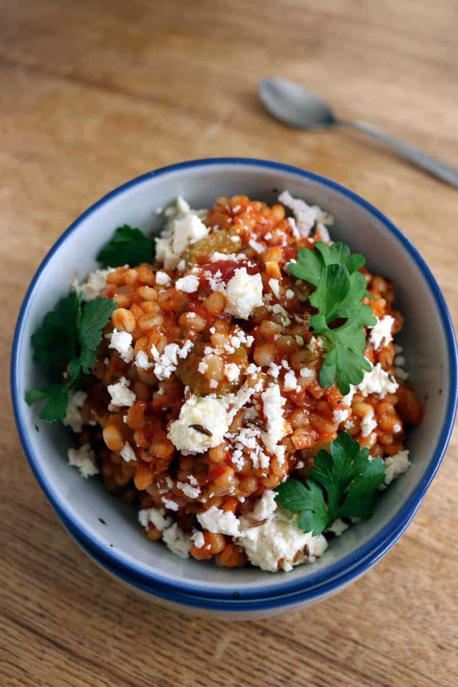 http://firsttimefoods.com/barley-risotto-with-feta