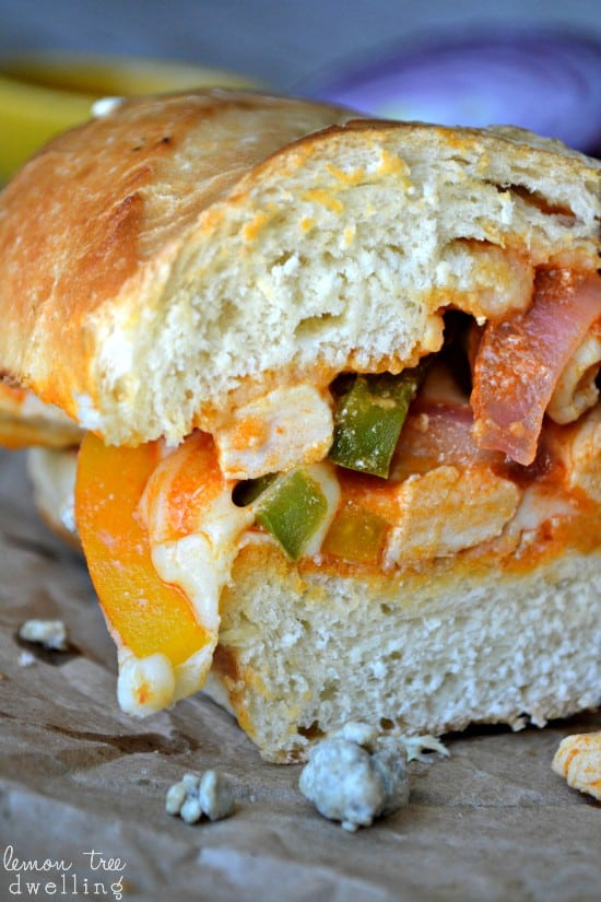 Buffalo Chicken Cheesesteaks combines two delicious flavors into this game day sandwich.