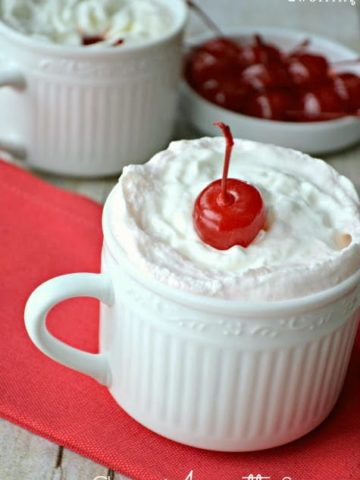 Cherry Amaretto Steamer is a delicious hot drink for those cold days.