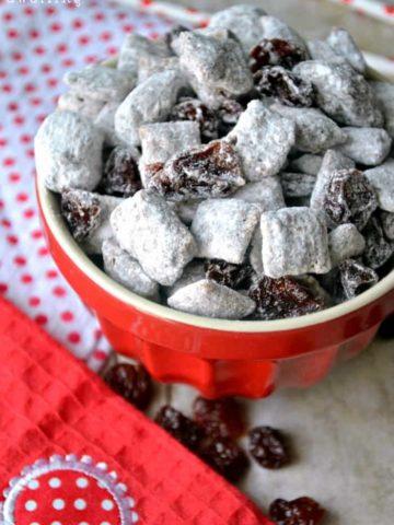 Chocolate Covered Cherry Muddy Buddies will be your new favorite treat!