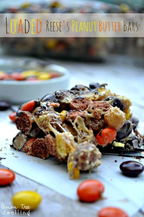 Loaded Reese's Peanut Butter Bars 1