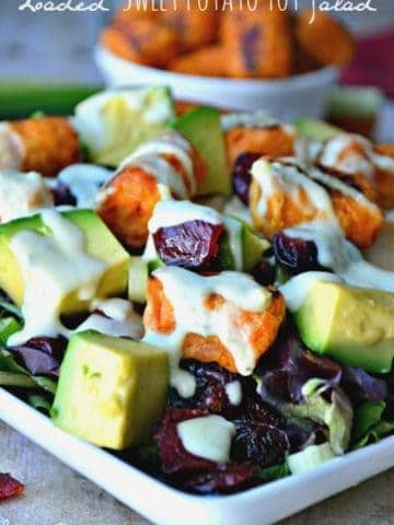 Loaded Sweet Potato Tot Salad is chock full of deliciousness