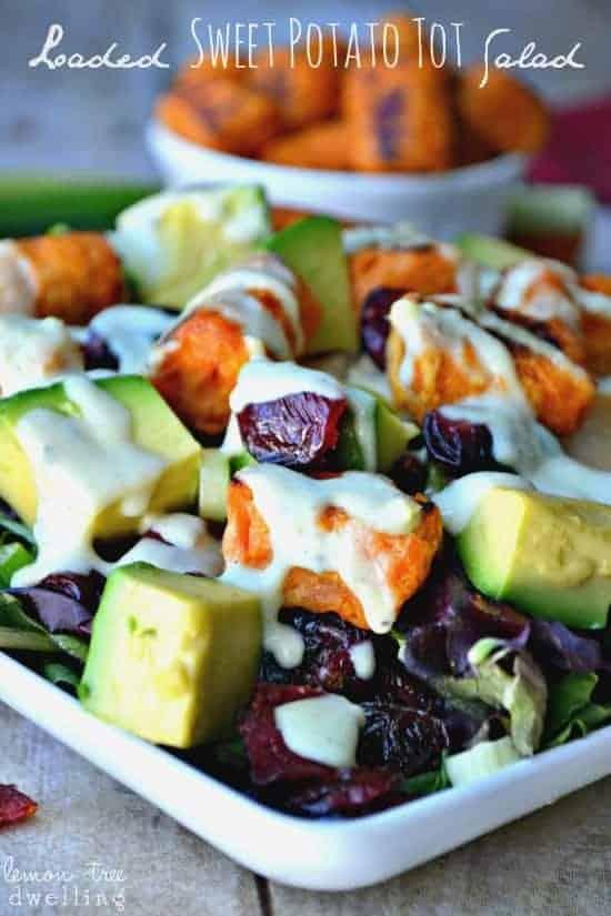 Loaded Sweet Potato Tot Salad 1c