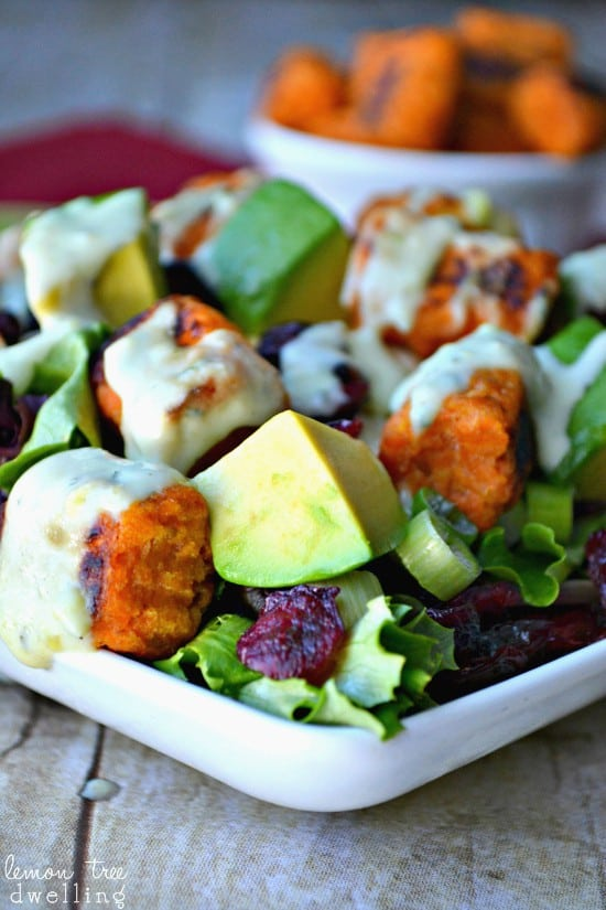 Loaded Sweet Potato Tot Salad 4c