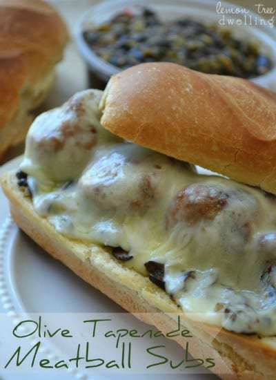 Olive Tapenade Meatball Subs 1 small