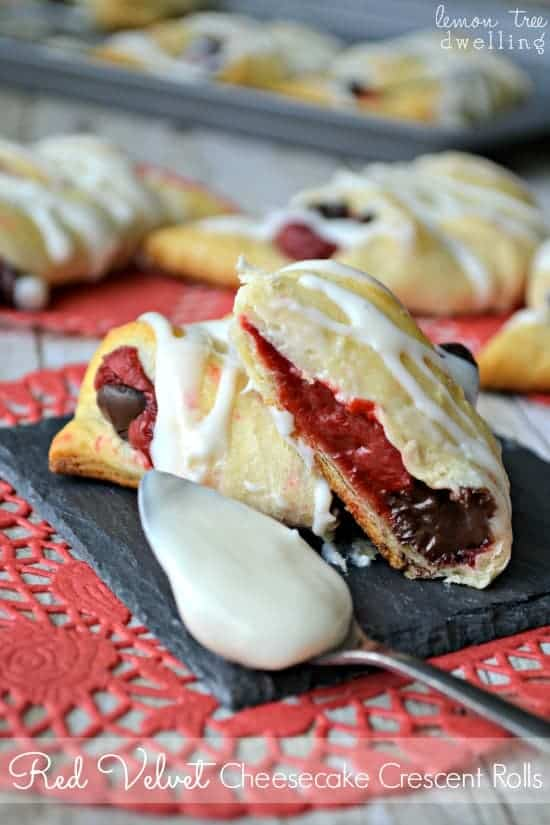 Red Velvet Cheesecake Crescent Rolls 3