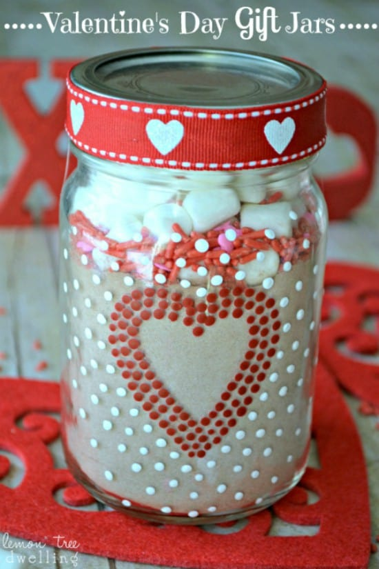 Valentine's Day Gift Jars make a perfect teacher gift!