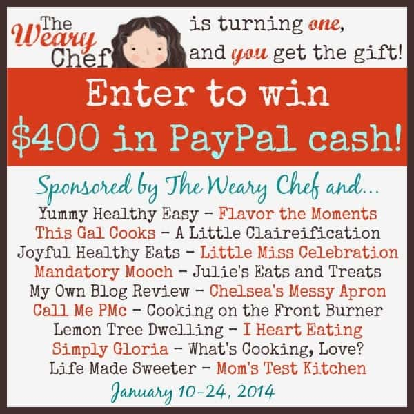 http://www.lemontreedwelling.com/2014/01/the-weary-chef-400-anniversary-giveaway.html