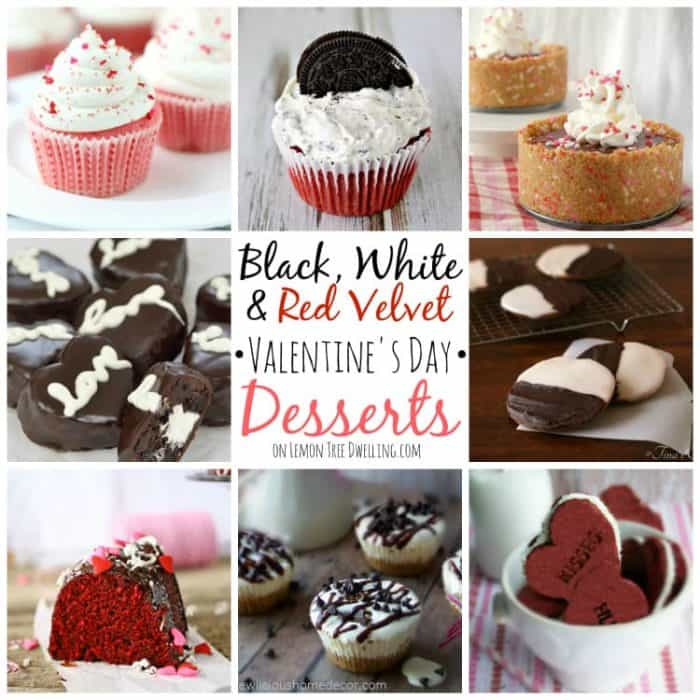 Black White and Red Valentine's Day Desserts