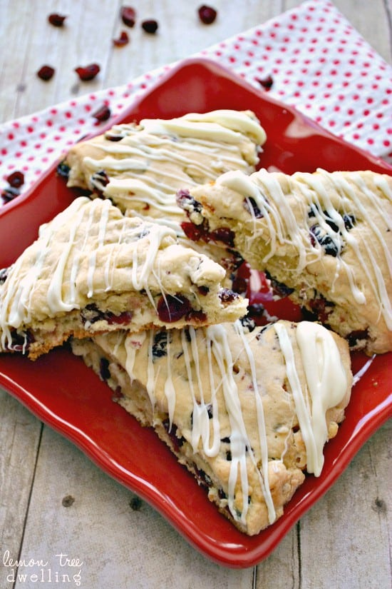 #AmericasTea, #shop, #cbias White Chocolate Cherry Scones are perfect with Bigelow Tea!