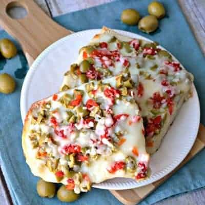 Cheesy Olive Bread is so ooey, gooey and full of cheesy goodness!