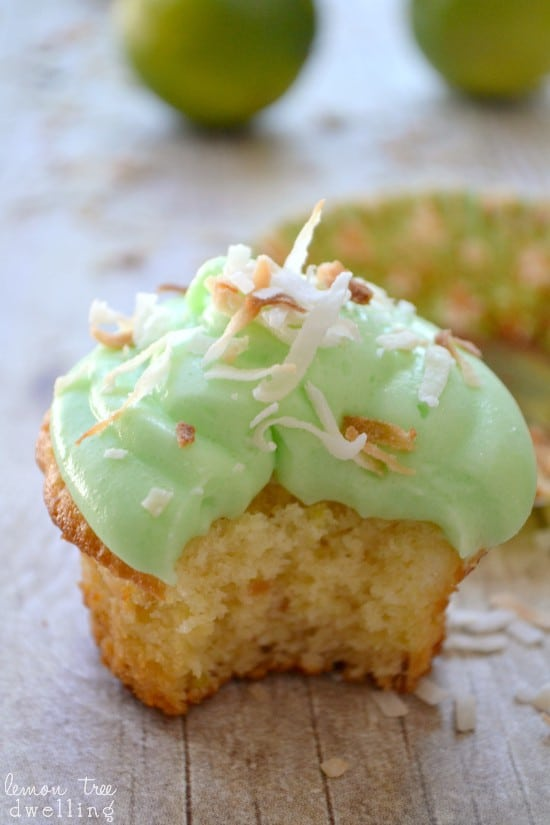 Coconut-Lime Cupcakes & A Cupcake Link Party! | Lemon Tree Dwelling