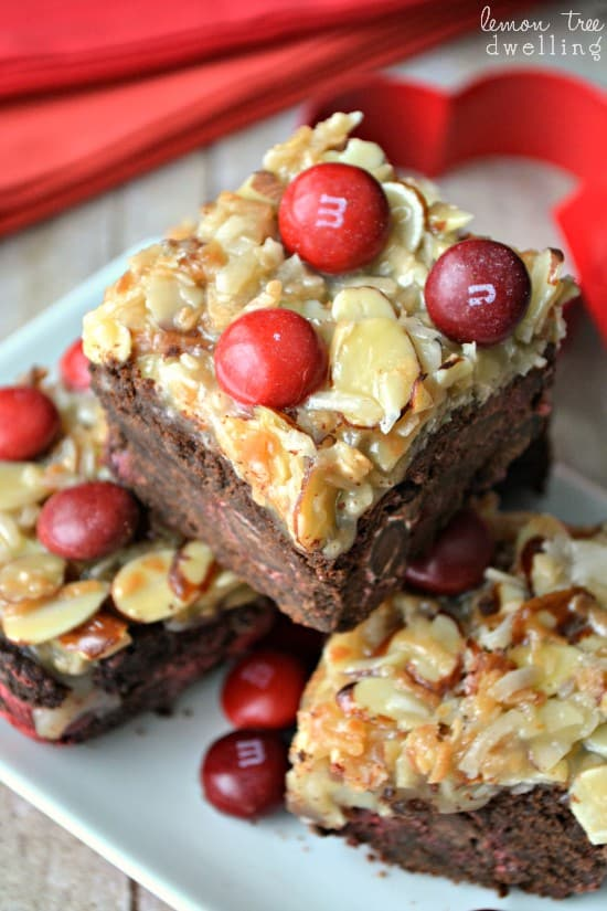 German Chocolate Cherry Bars 1