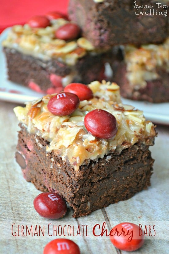 German Chocolate Cherry Bars 2b