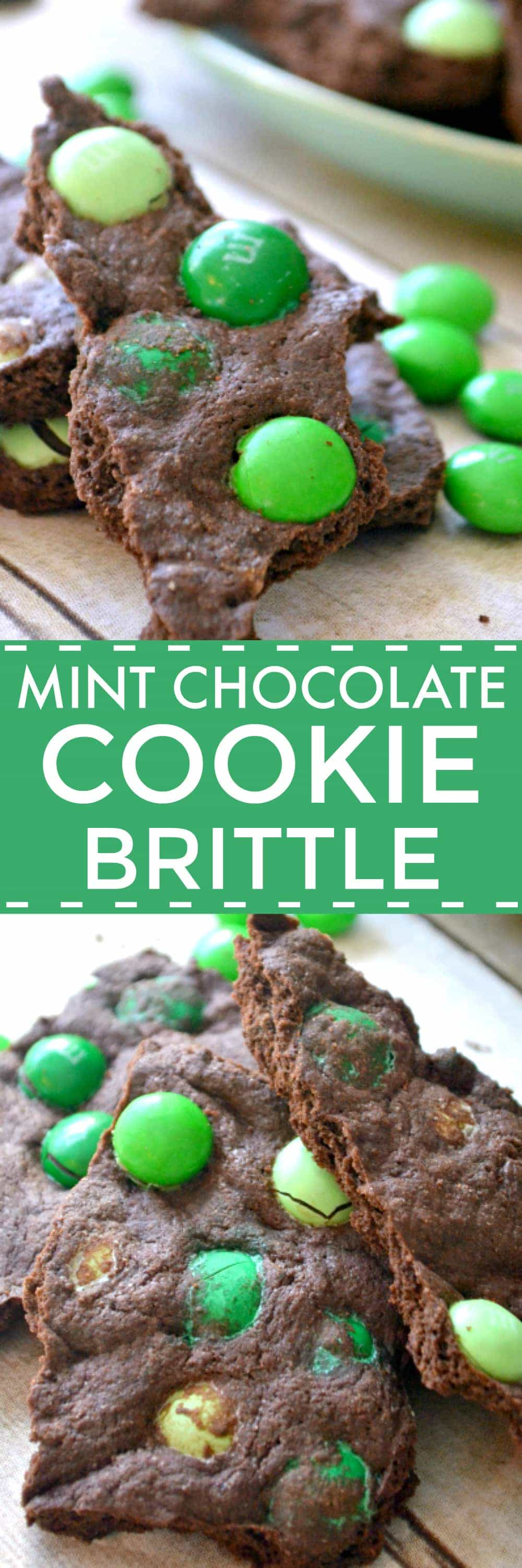 Mint Chocolate Cookie Brittle is a delicious mix between a thin mint and a brownie.