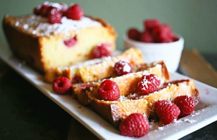 Raspberry White Chocolate Pound Cake