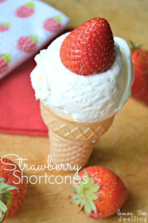 Strawberry Shortcones