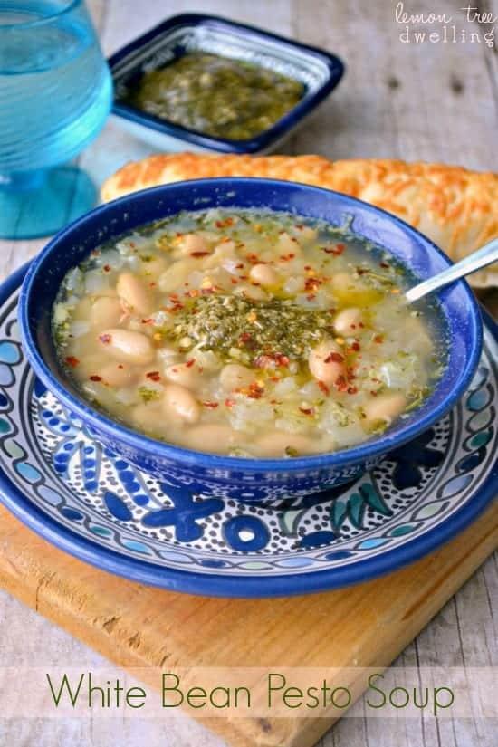 White Bean Pesto Soup | Lemon Tree Dwelling