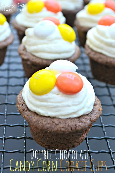 Double Chocolate Candy Corn Cookie Cups 1 - Copy - Copy