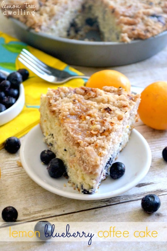 Lemon Blueberry Coffee Cake - a deliciously sweet, buttery coffee cake for Mother's Day or any special occasion!