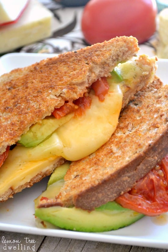 Loaded Grilled Cheese Sandwich 4b