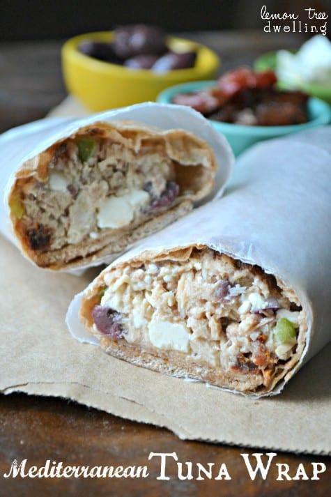 Mediterranean Tuna Wrap 1
